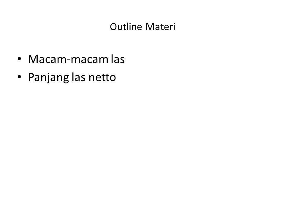 Outline Materi Macam-macam las Panjang las netto
