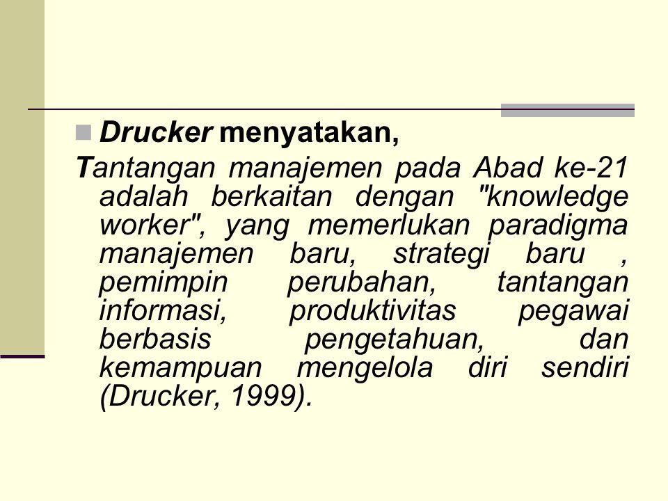 Drucker menyatakan,