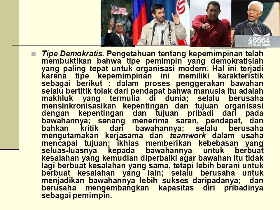 Tipe Demokratis.
