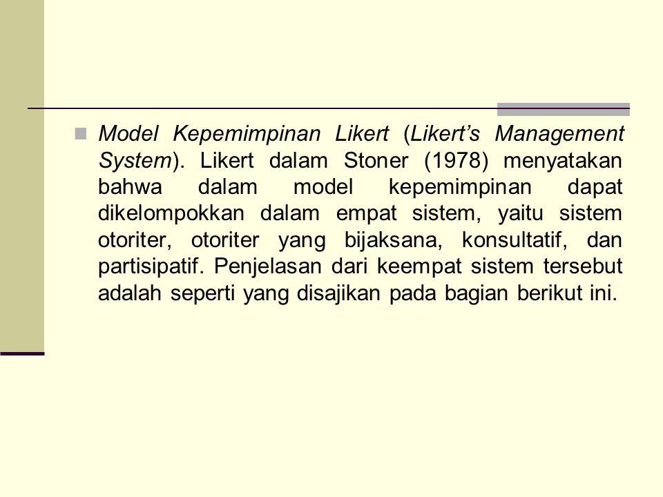 Model Kepemimpinan Likert (Likert's Management System)