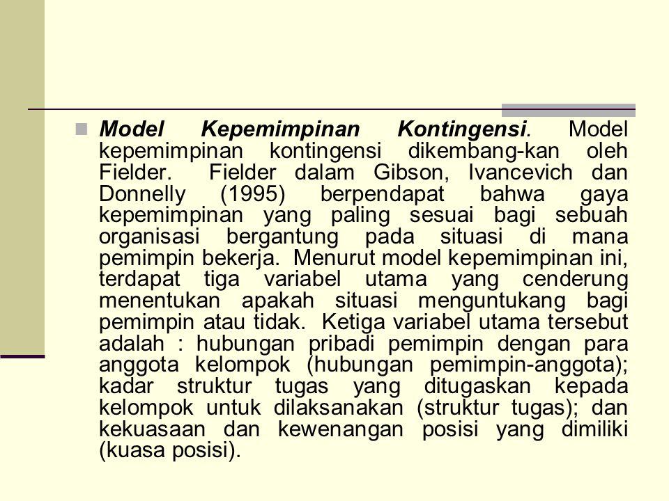 Model Kepemimpinan Kontingensi