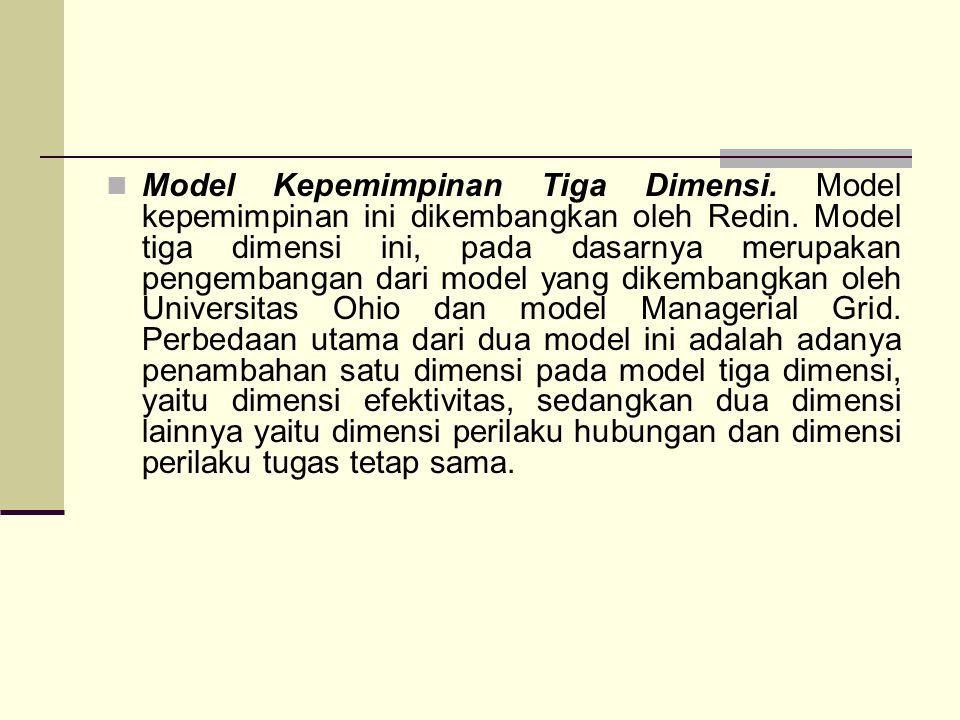 Model Kepemimpinan Tiga Dimensi