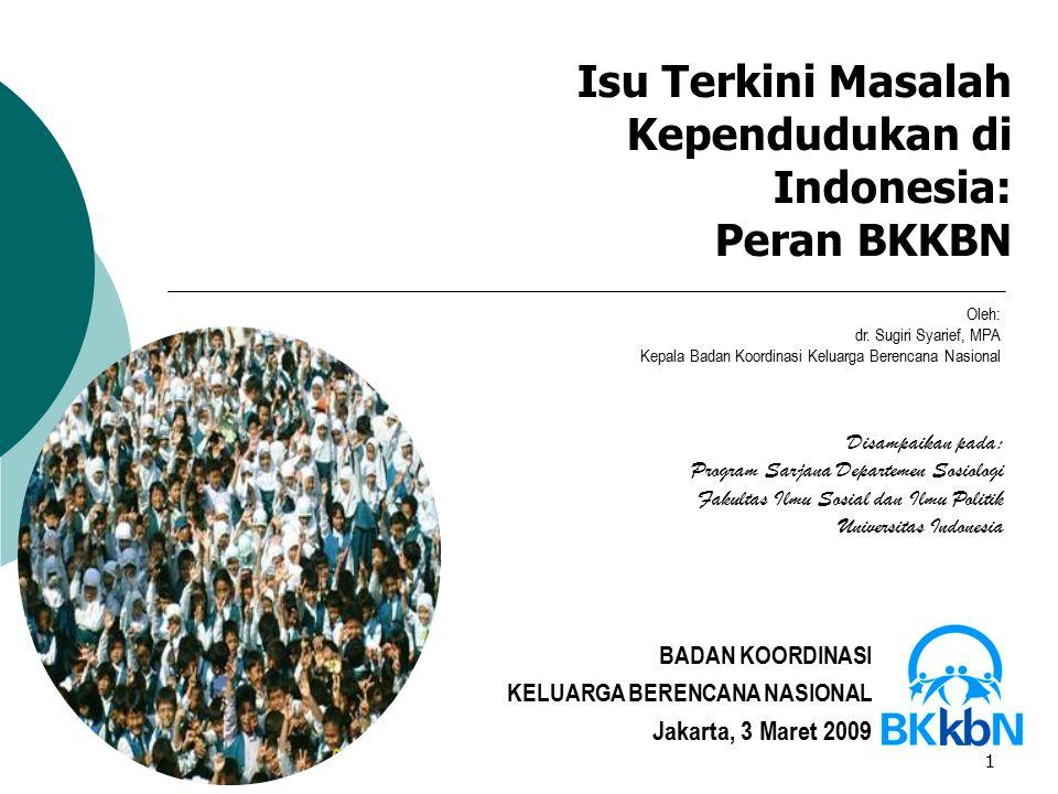 Isu Terkini Masalah Kependudukan di Indonesia: Peran BKKBN
