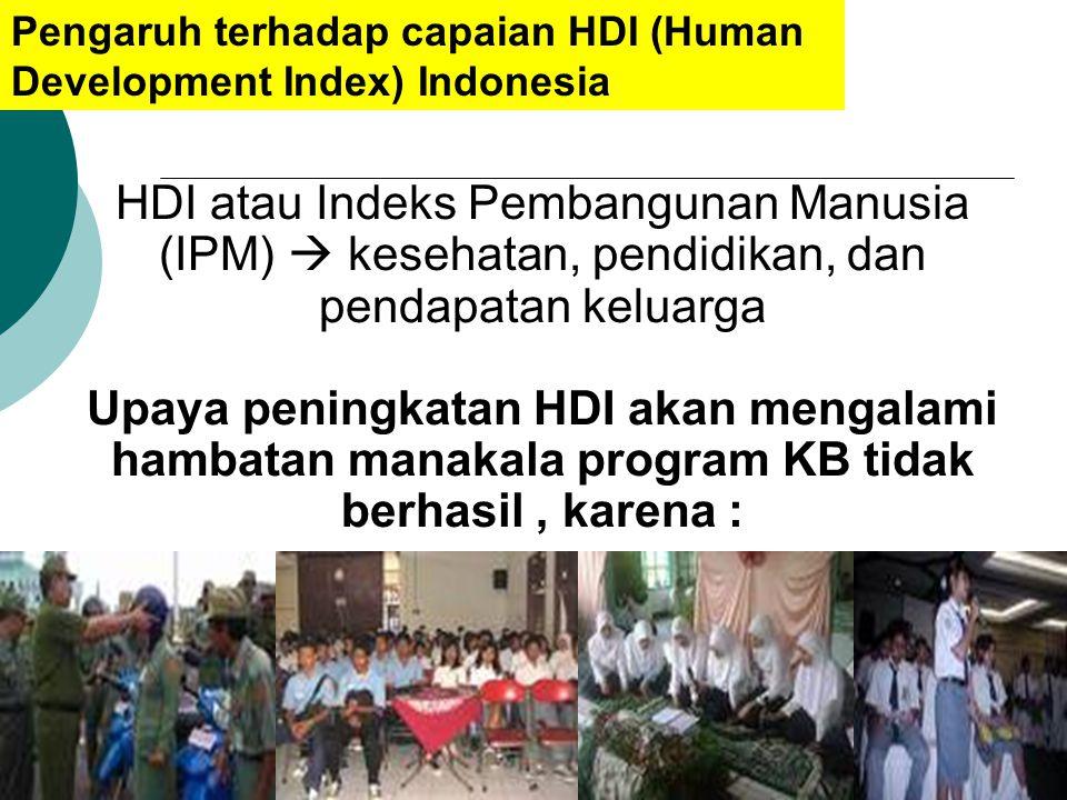 Pengaruh terhadap capaian HDI (Human Development Index) Indonesia