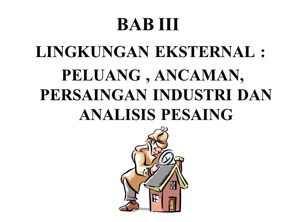 BAB III LINGKUNGAN EKSTERNAL :