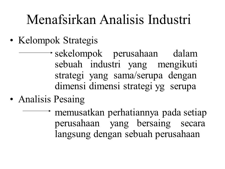 Menafsirkan Analisis Industri