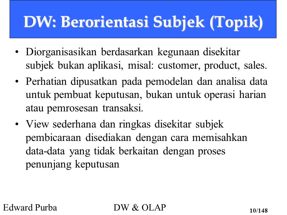 DW: Berorientasi Subjek (Topik)