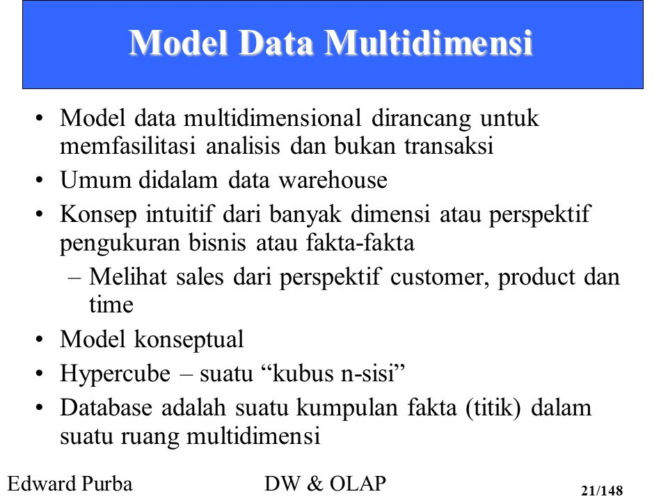 Model Data Multidimensi
