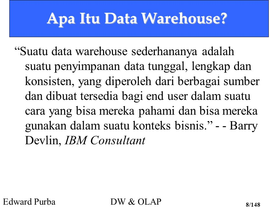 Apa Itu Data Warehouse