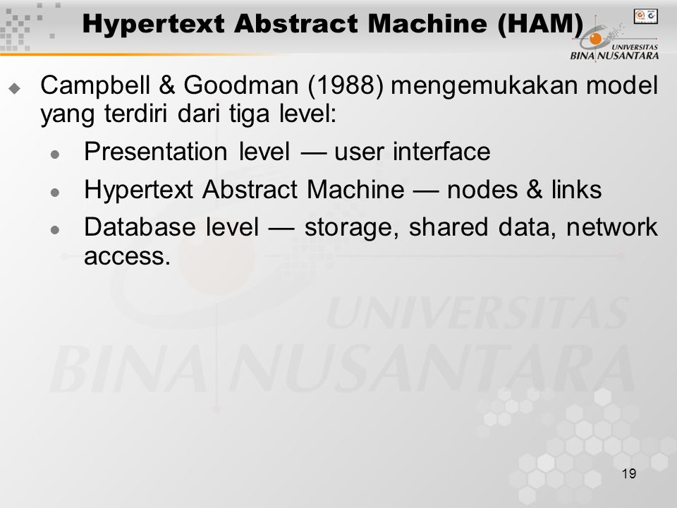 Hypertext Abstract Machine (HAM)