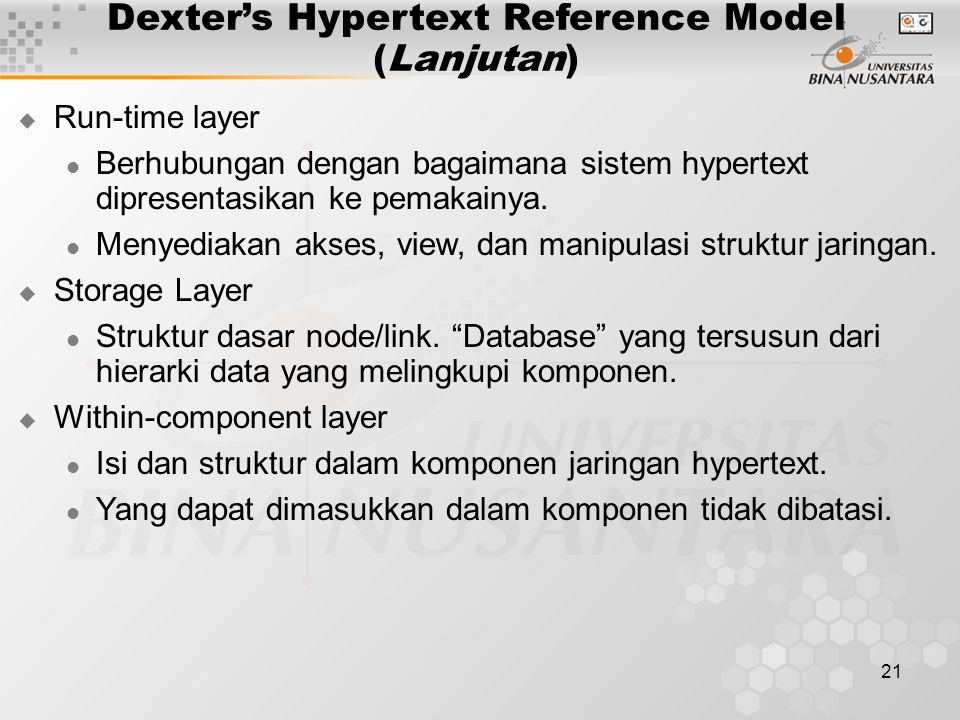Dexter's Hypertext Reference Model