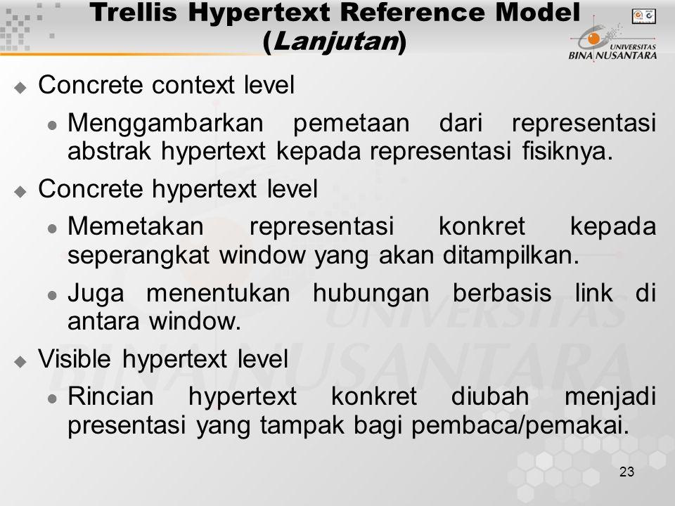 Trellis Hypertext Reference Model (Lanjutan)