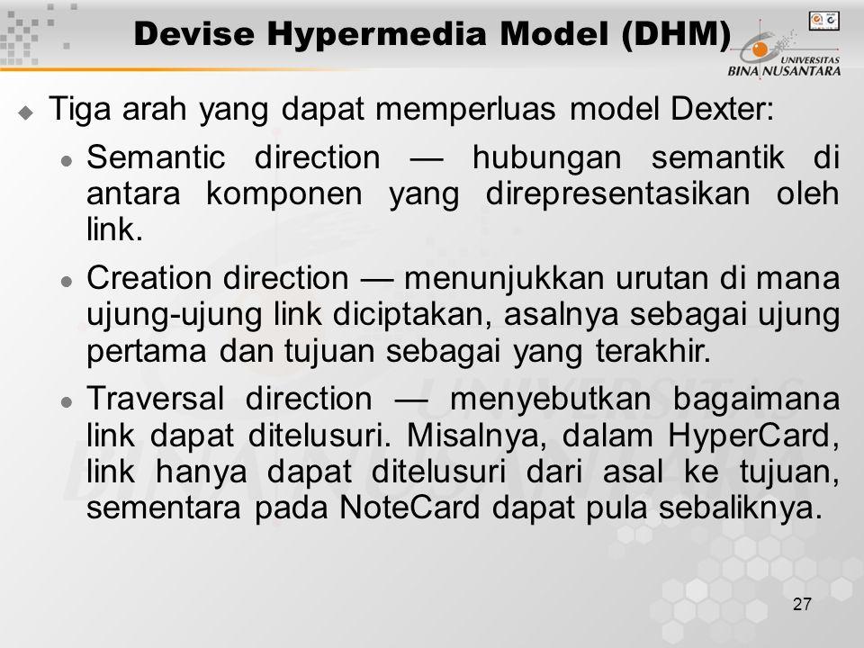 Devise Hypermedia Model (DHM)