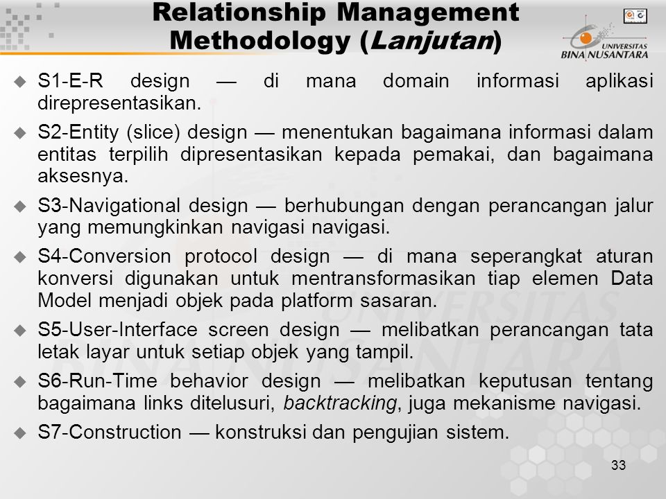 Relationship Management Methodology (Lanjutan)