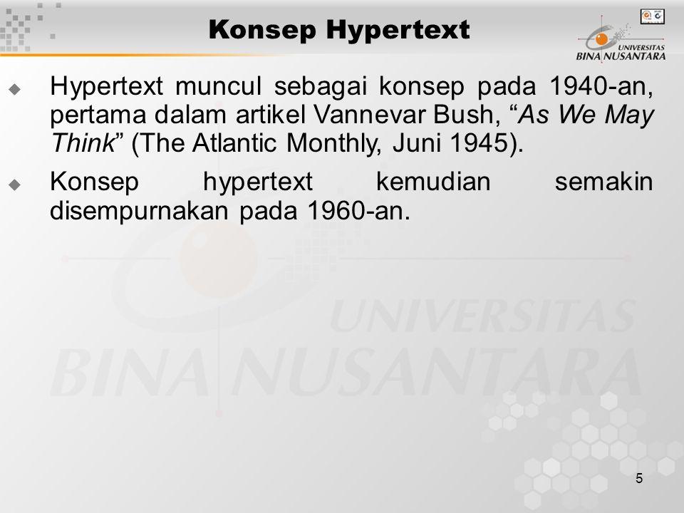 Konsep Hypertext