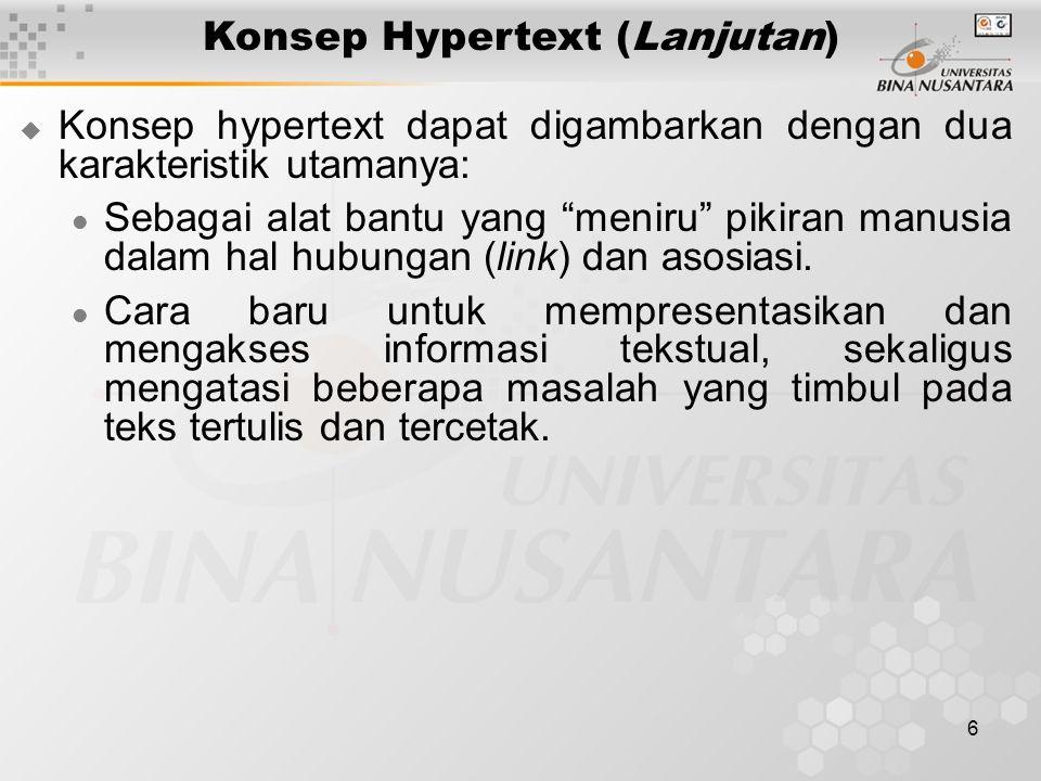 Konsep Hypertext (Lanjutan)