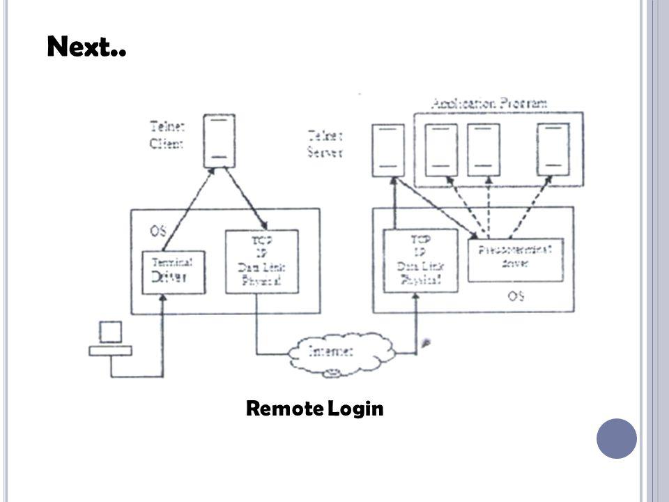 Next.. Remote Login