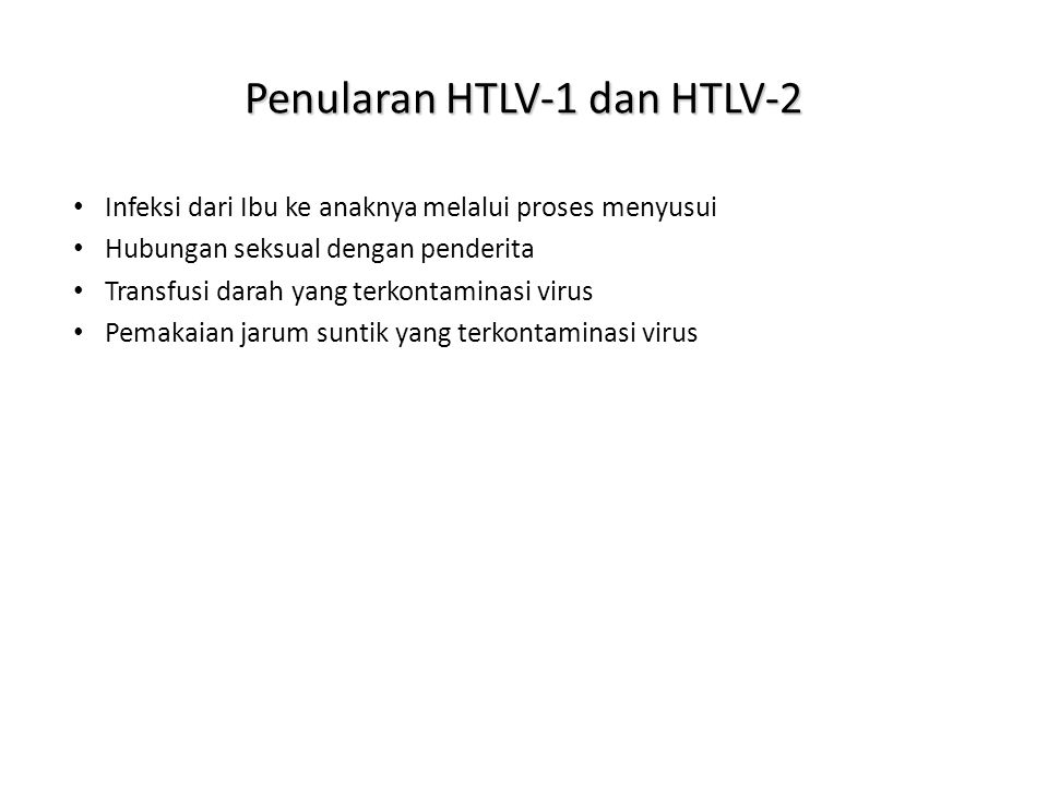 Penularan HTLV-1 dan HTLV-2