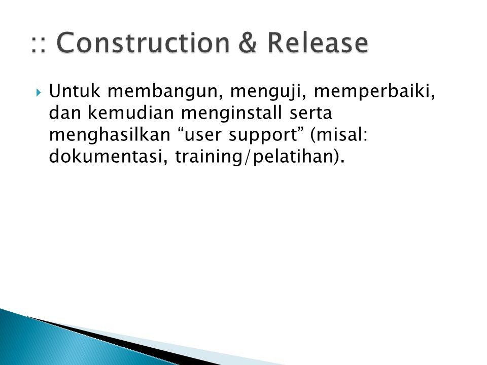 :: Construction & Release