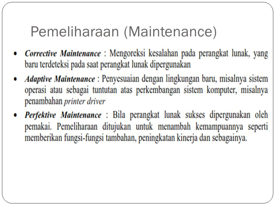Pemeliharaan (Maintenance)