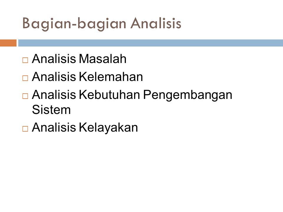 Bagian-bagian Analisis
