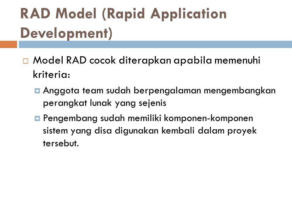 RAD Model (Rapid Application Development)