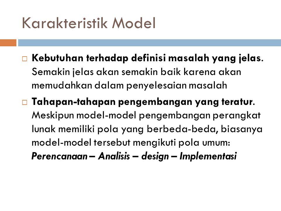 Karakteristik Model