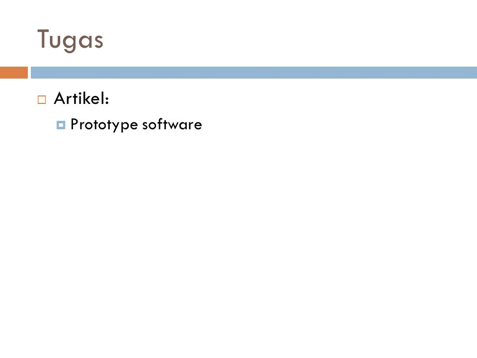 Tugas Artikel: Prototype software