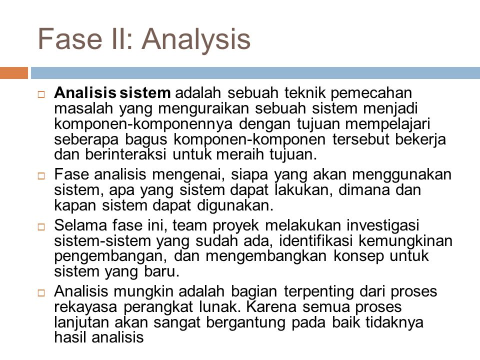 Fase II: Analysis