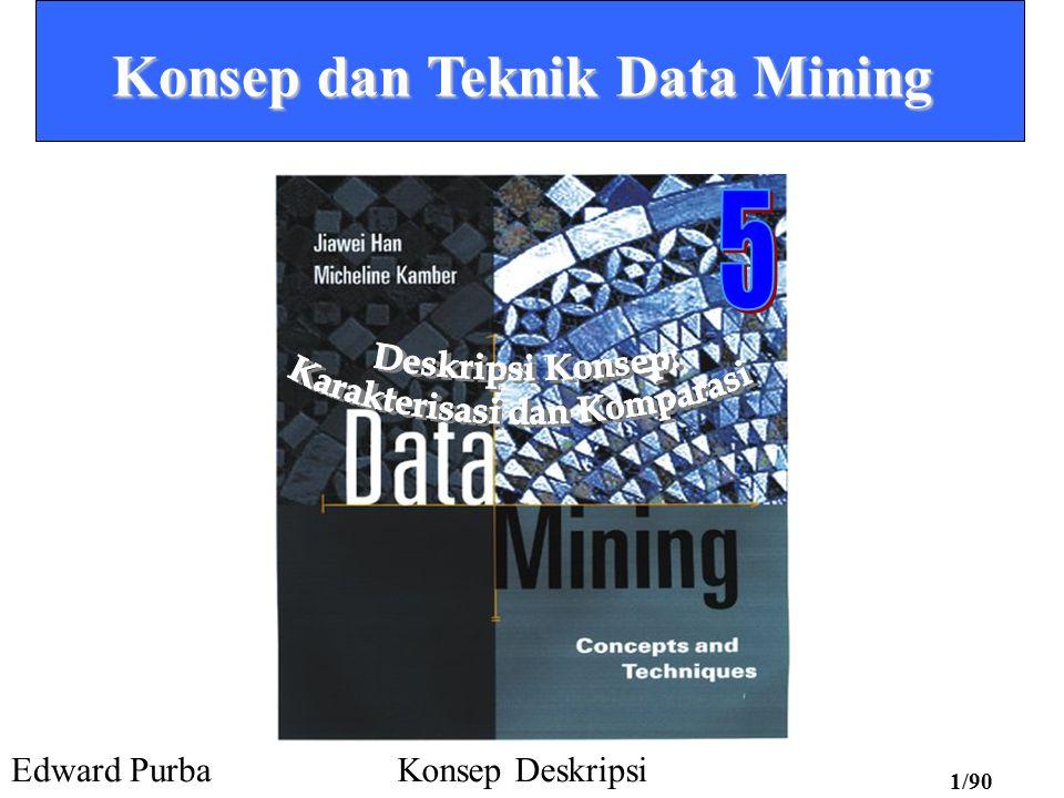 Konsep dan Teknik Data Mining Karakterisasi dan Komparasi