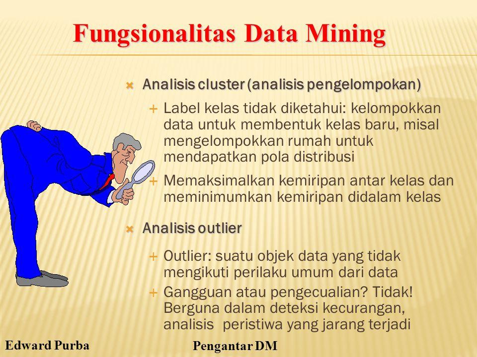 Fungsionalitas Data Mining