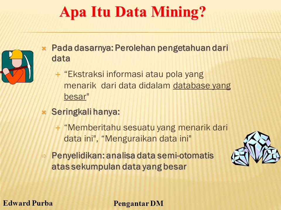 Apa Itu Data Mining Pada dasarnya: Perolehan pengetahuan dari data