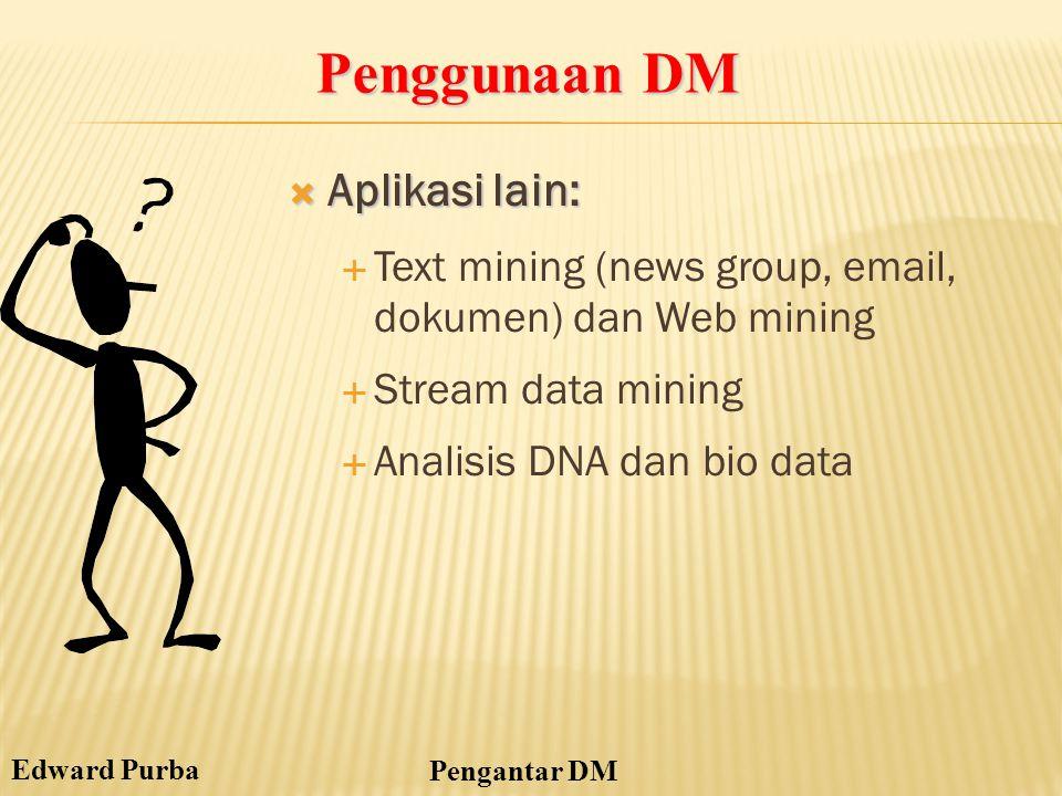 Penggunaan DM Aplikasi lain: