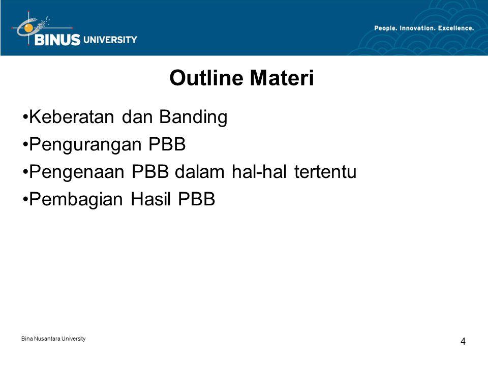 Outline Materi Keberatan dan Banding Pengurangan PBB