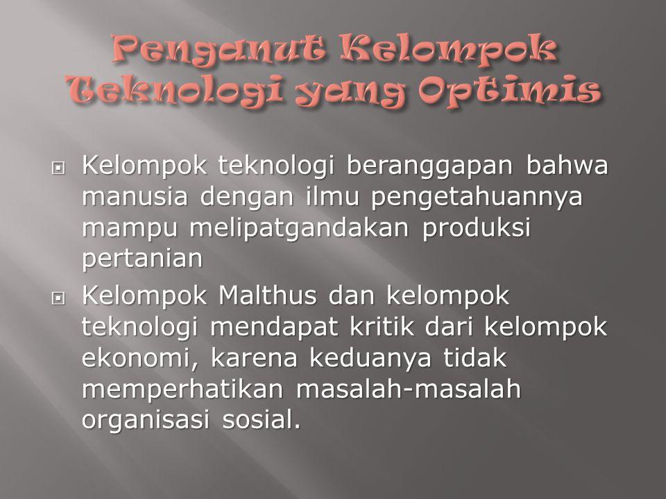 Penganut Kelompok Teknologi yang Optimis