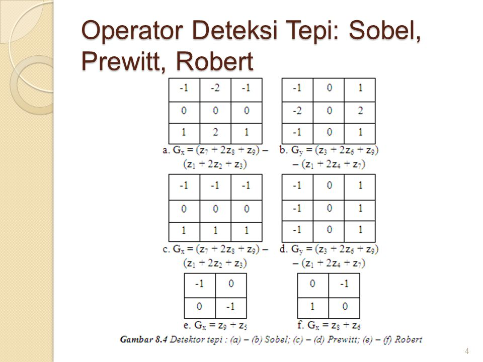 Operator Deteksi Tepi: Sobel, Prewitt, Robert