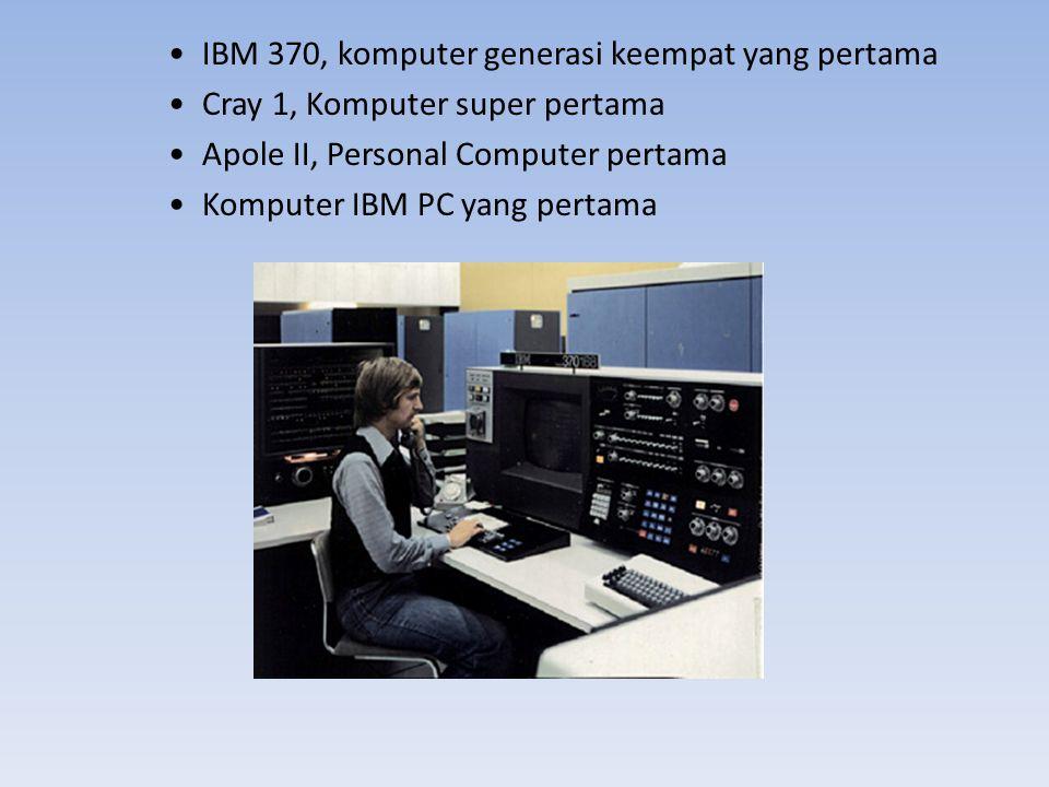 IBM 370, komputer generasi keempat yang pertama