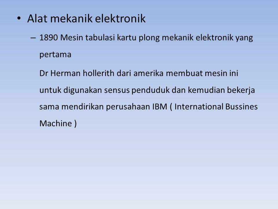 Alat mekanik elektronik
