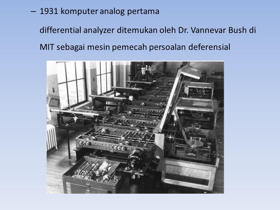 1931 komputer analog pertama