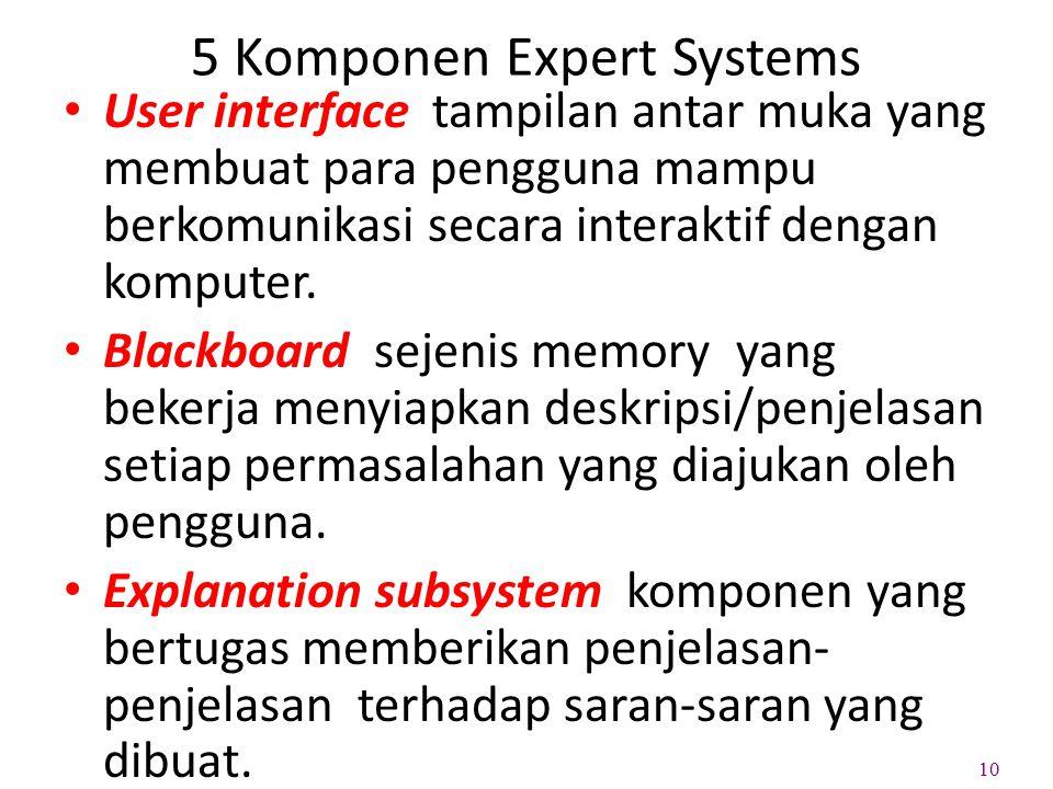 5 Komponen Expert Systems