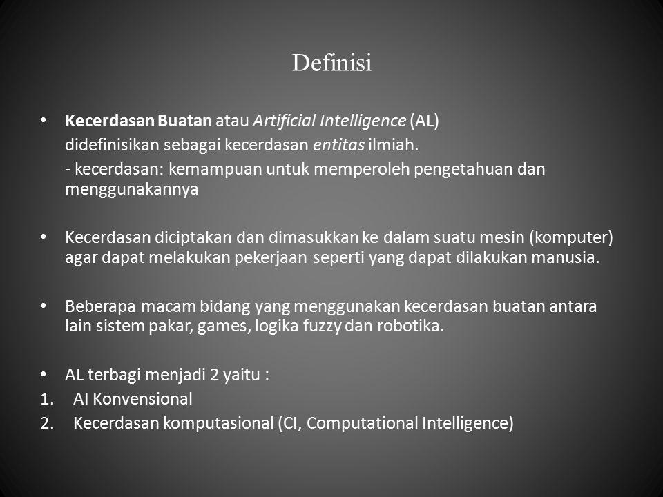 Definisi Kecerdasan Buatan atau Artificial Intelligence (AL)