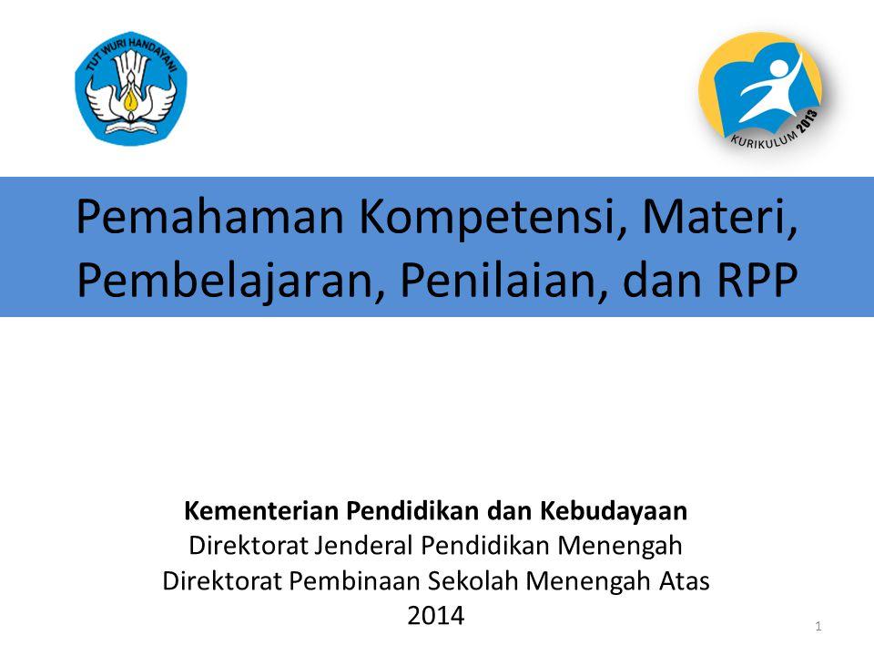 Pemahaman Kompetensi, Materi, Pembelajaran, Penilaian, dan RPP