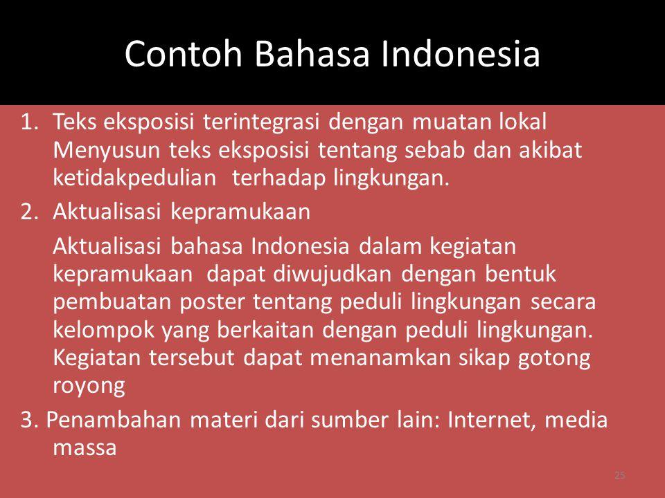 Contoh Bahasa Indonesia