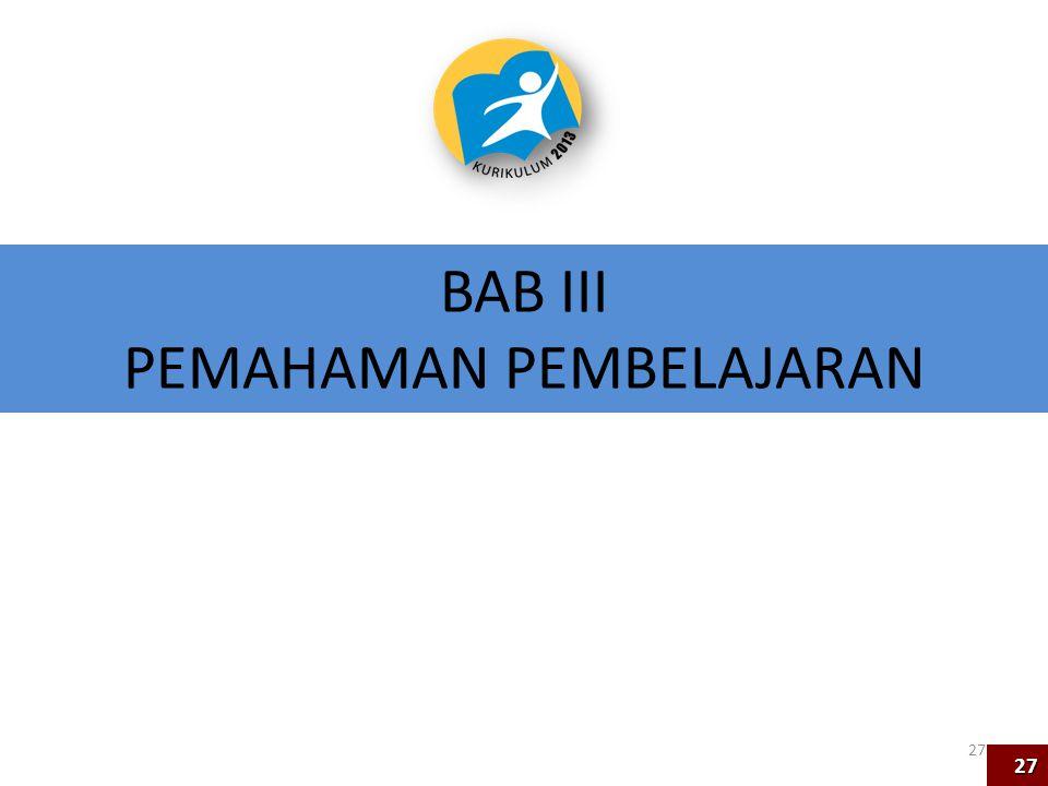 BAB III PEMAHAMAN PEMBELAJARAN