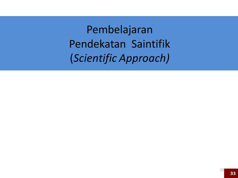 (Scientific Approach)