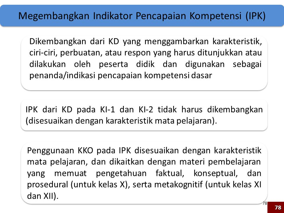 Megembangkan Indikator Pencapaian Kompetensi (IPK)