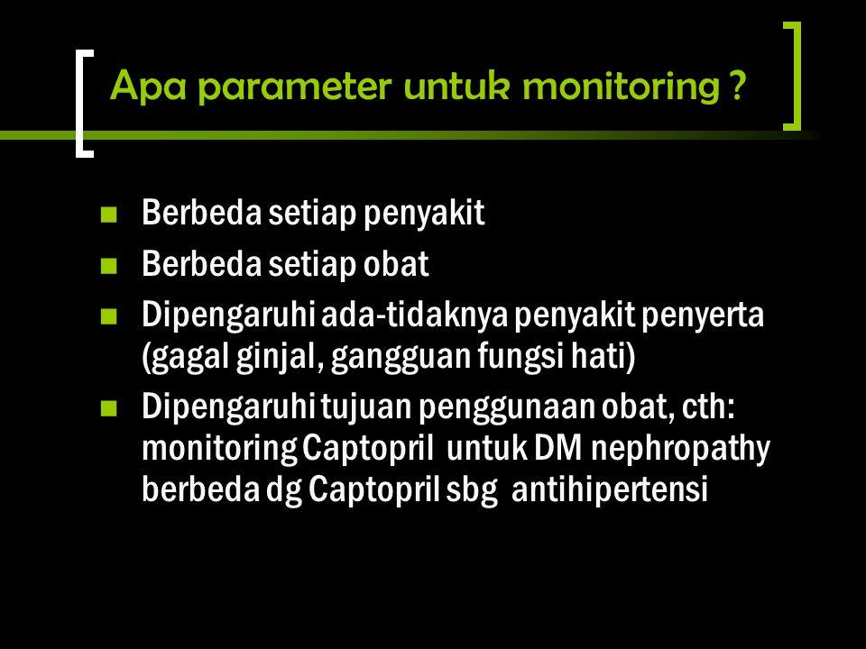 Apa parameter untuk monitoring