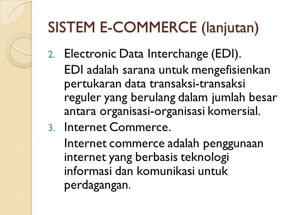 SISTEM E-COMMERCE (lanjutan)