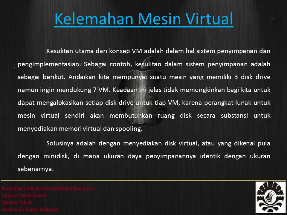 Kelemahan Mesin Virtual