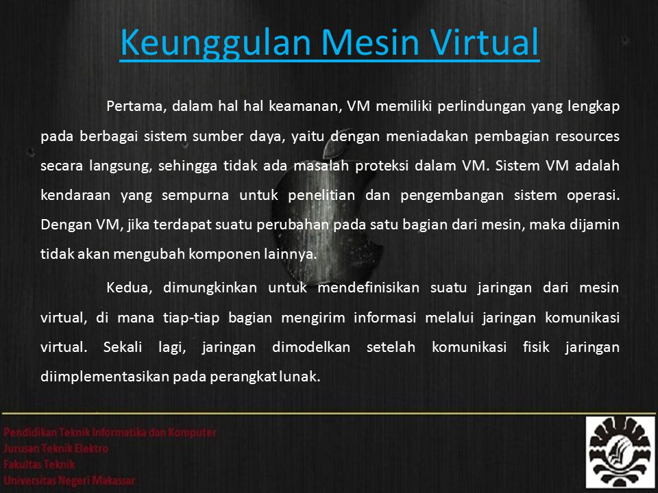 Keunggulan Mesin Virtual